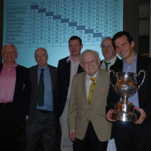 2013: (l-r) Victor Silverstone, Willie Coyle, Tom Townsend, Bernard Teltscher, Phil King, Stelio di Bello