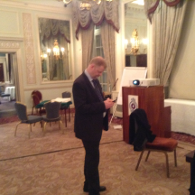 TD Martin Nygren does some texting