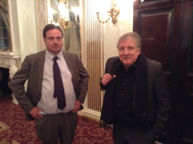 Ian Payn and Peter Clinch emerge from the Vugraph room