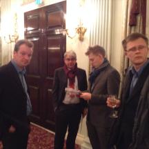 Team Gillis: l-r Espen Erichsen, Simon Gillis (the event sponsor), Boye Brogeland, Espen Lndqvist