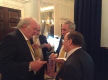 Four of the England Seniors: l-r Colin Simpson, David Price, David Mossop, Paul Hackett