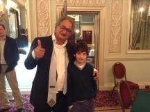 Zia and son Rafi (who also plays bridge)