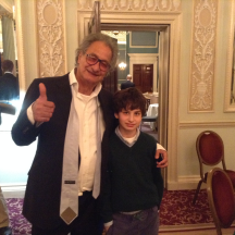 Zia and son Rafi (who also plays bridge)