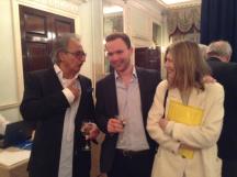 Zia and two friends: l-r Zia, Dennis Bilde, Anita Sinclair
