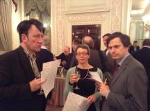 Three of the Spring Fours: Graham Osborne, Frances Hinden, Jeffrey Allerton