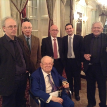 President's Team: l-r Phil King, Willie Coyle, Bernard Teltscher (LMBA President), Graham Orsmond, Stelio Di Bello, Victor Silverstone