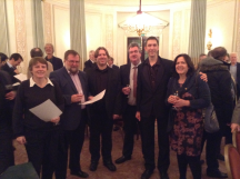 Chairman's Choice: l-r Heather Dhondy, David Burn, Kieran Dyke, Joe Fawcett, Michael Byrne, Gillian Fawcett