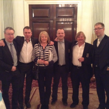 Team Ireland: l-r Mark Moran, John Carroll, Grainne Barton (NPC), Tom Hanlon, Rory Boland, Tommy Garvey