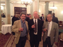 Three of the London team: Barry Myers, Andy Bowles, Frank To