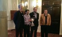 2015: (l-r) Andrew Robson, David Bakshi, David Gold, Tony Forrester