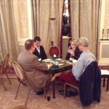 de Botton v Holders. CW from left: Artur Malinowski, Alexander Allfrey, Janet de Botton, Andrew Robson