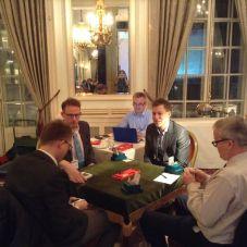 Gills v Zia. CW from left: Espen Lindqvist, Simon Cope, Boye Brogeland, Peter Crouch