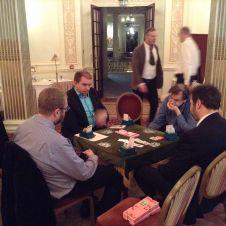 Holders v de Botton. CW from left: David Gold, Peter Bertheau, Tony Forrester, Thor-Erik Hoftaniska