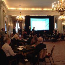 Ian Payn (London Metropolitan Bridge Association Chairman) welcomes everyone
