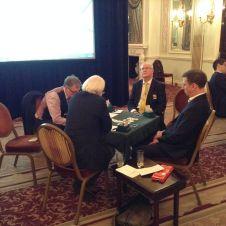 Chairman's Team v Ireland. CW from left: Tommy Garvey, John Holland, John Carroll, Alan Mould