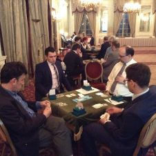 Hinden v London. CW from left: Graham Osborne, Stefan Skorchev, Jon Cooke, Christophe Grosset